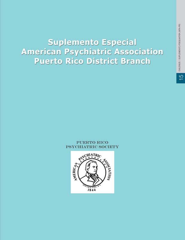 Suplemento especial: American Psychiatric Association PR