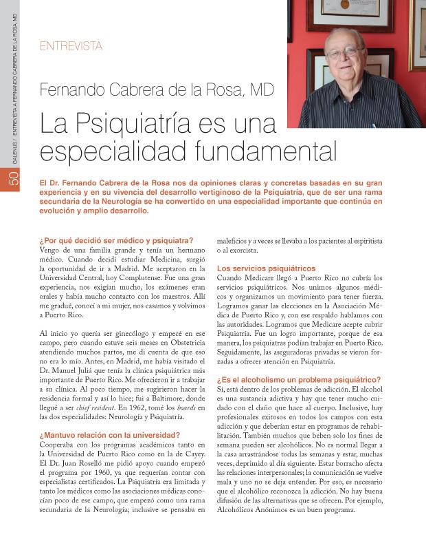 Entrevista: Fernando Cabrera de la Rosa, MD
