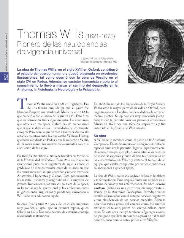 Historia : Thomas Willis (1621-1675)