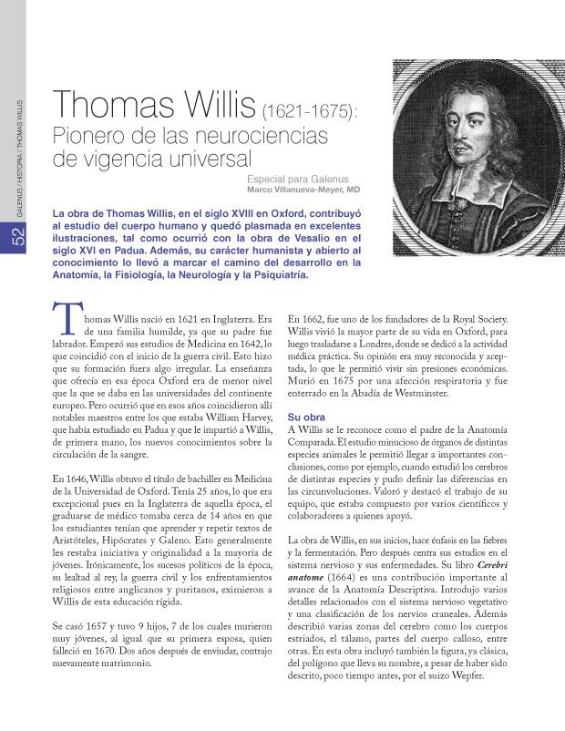 Historia: Thomas Willis (1621-1675)