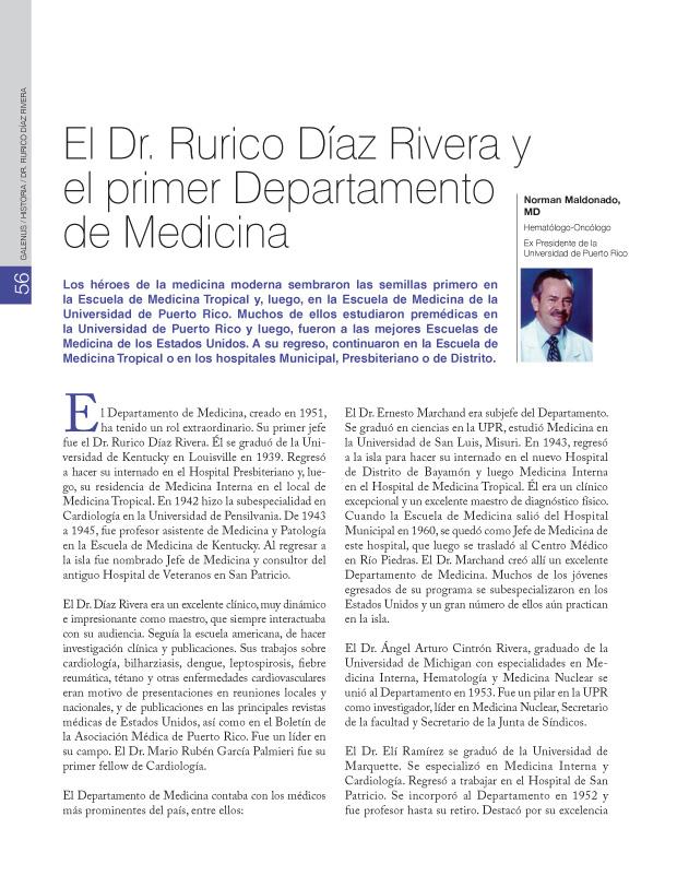 Historia: El Dr. Rurico Díaz Rivera