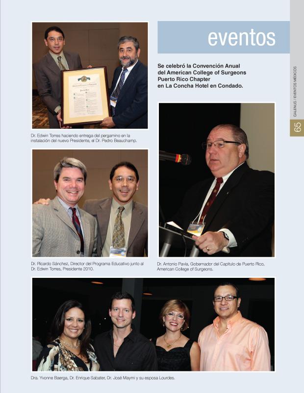 Convención Anual del American College of Surgeons Puerto Rico Chapter - Concha Hotel en Condado.