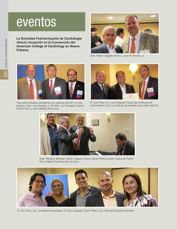 La Sociedad Puertorriqueña de Cardiología ofreció recepción en la Convención del American College of Cardiology en Nueva Orleans.