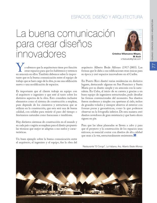 Espacios, diseño y arquitectura: La buena comunicación para crear diseños innovadores