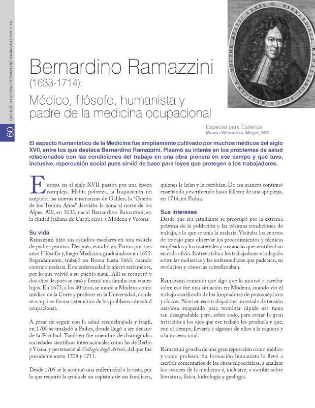 Bernardino Ramazzini (1633-1714):