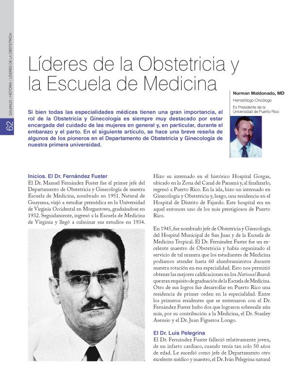 Líderes de la Obstetricia y la Escuela de Medicina
