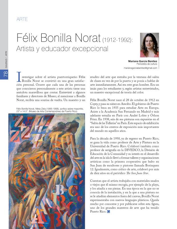 Félix Bonilla Norat (1912-1992)