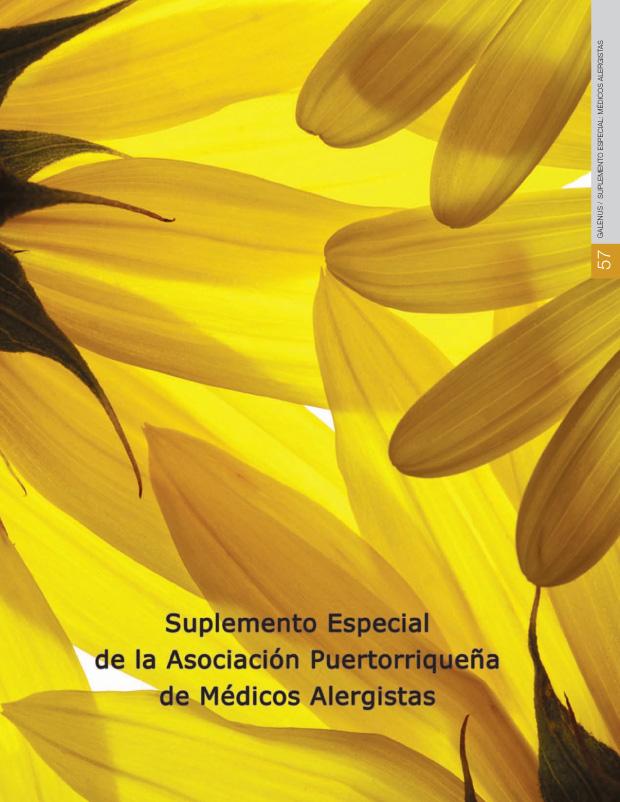 Suplemento Especial: Alergía e Inmunología