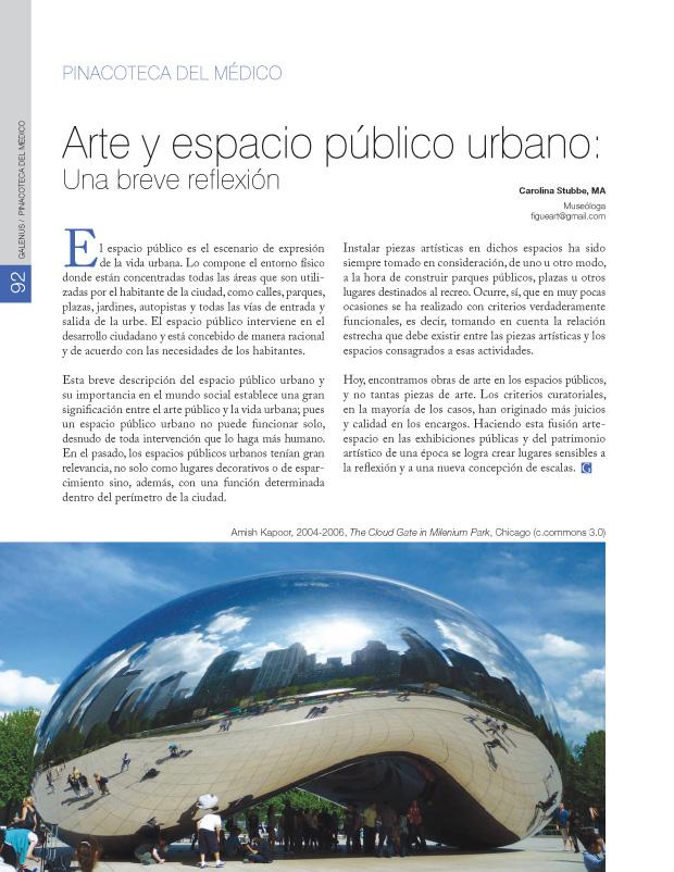 Arte y espacio público urbano: Una breve reflexión