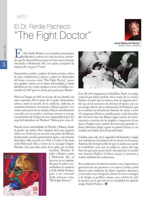 "El Dr. Ferdie Pacheco: ""The Fight Doctor"""