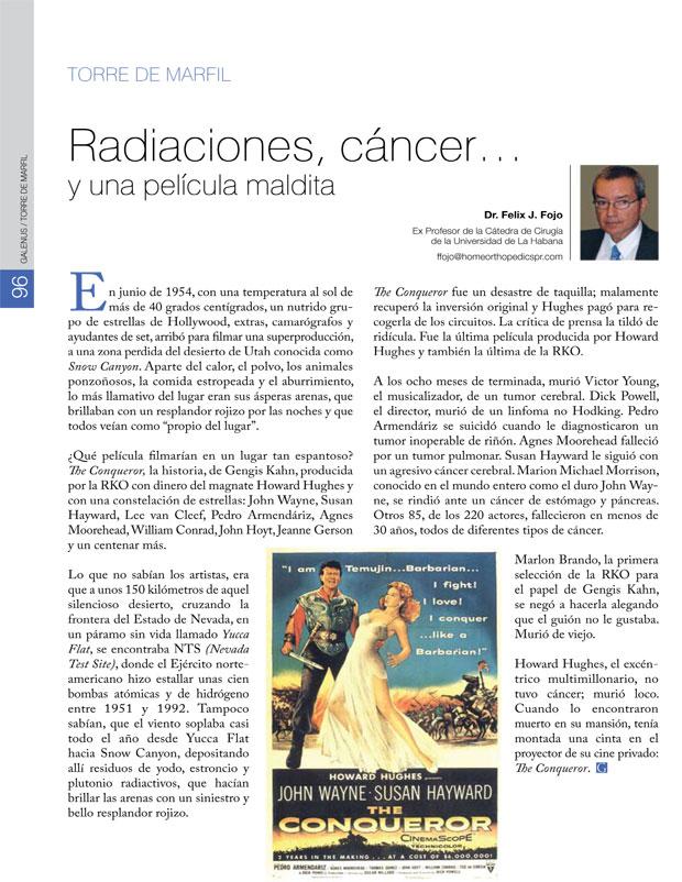 Radiaciones, cáncer… y una película maldita