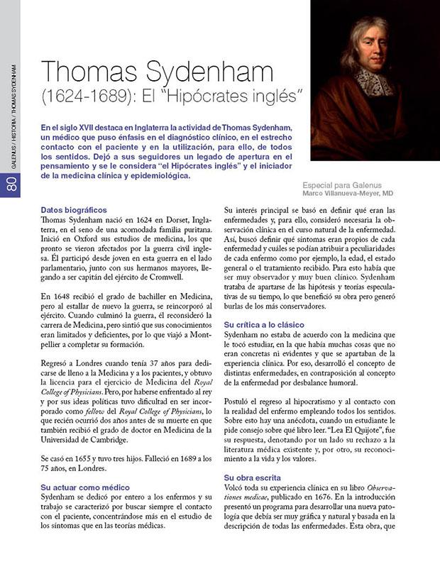 "Thomas Sydenham (1624-1689): El ""Hipócrates inglés"""