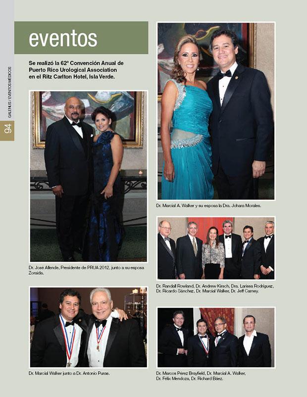 Se realizó la 62ª Convención Anual de  Puerto Rico Urological Association  en el Ritz Carlton Hotel, Isla Verde.