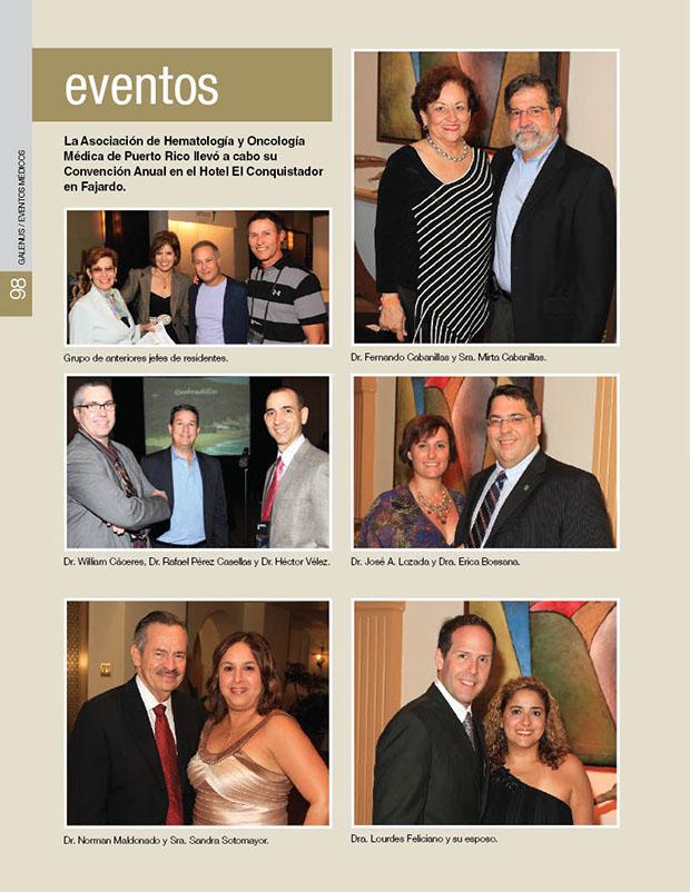 La Asociación de Hematología y Oncología Médica de Puerto Rico llevó a cabo su Convención Anual en el Hotel El Conquistador en Fajardo.