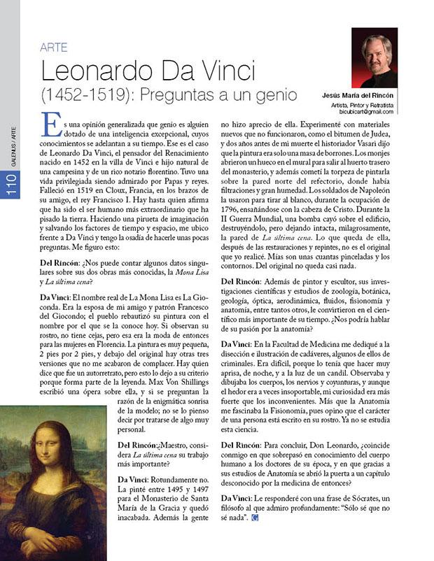 Leonardo Da Vinci (1452-1519): Preguntas a un genio