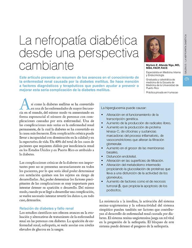 La nefropatía diabética desde una perspectiva cambiante