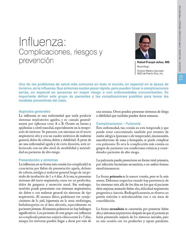 Influenza: Complicaciones, riesgos y prevención