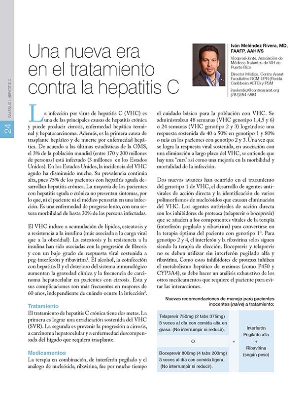 Una nueva era  en el tratamiento  contra la Hepatitis C