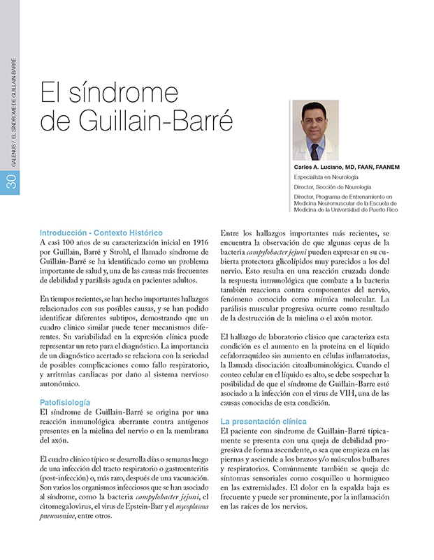 El síndrome  de Guillain-Barré