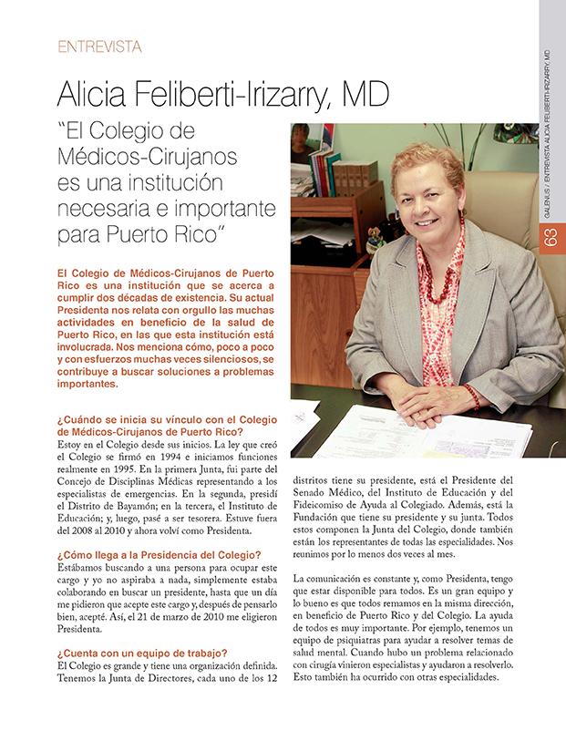 Entrevista: Alicia Feliberti-Irizarry, MD