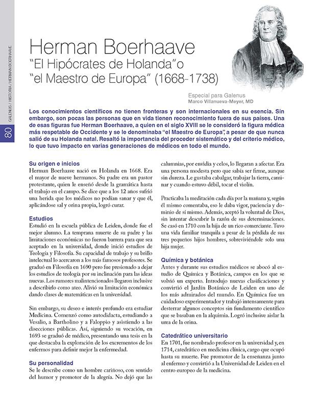"""Herman Boerhaave """"El Hipócrates de Holanda""""o  """"el Maestro de Europa"""" (1668-1738)"""