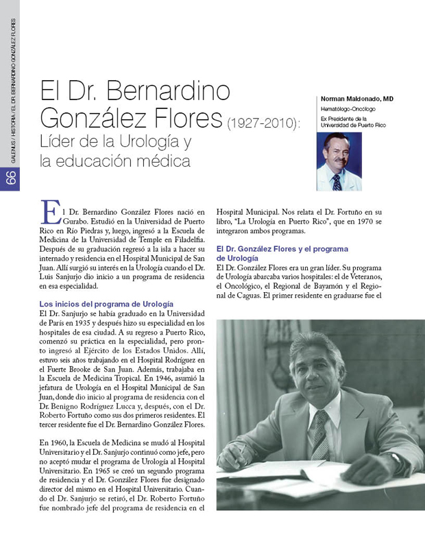 Historia - El Dr. Bernardino González Flores