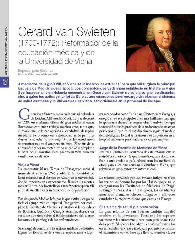 Historia - Gerard van Swieten