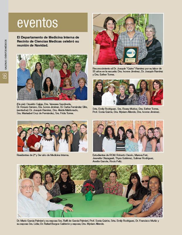 El Departamento de Medicina Interna de Recinto de Ciencias Medicas celebró su reunión de Navidad.
