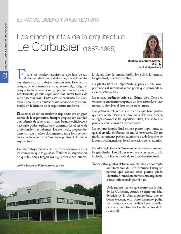 Los cinco puntos de la arquitectura: Le Corbusier (1887-1965)