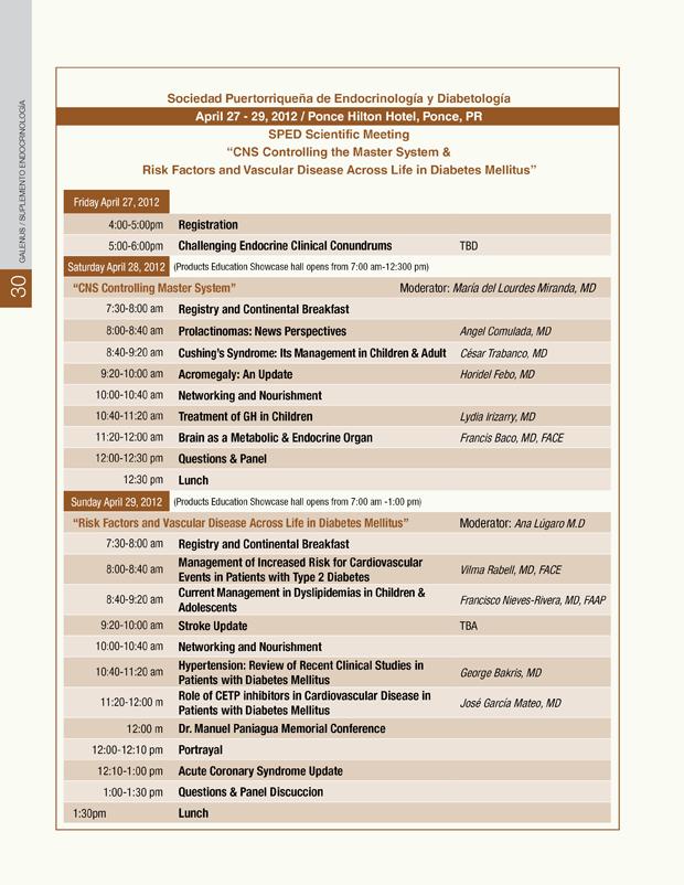 Programa Endocrinología
