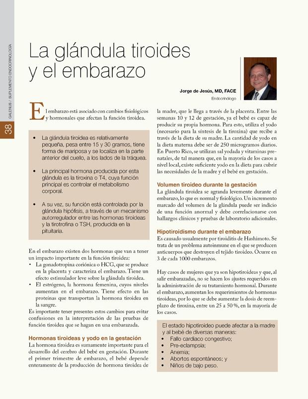La glándula tiroides y el embarazo