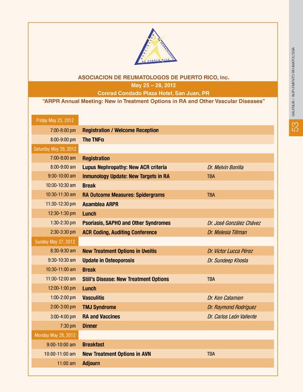 Programa Reumatología