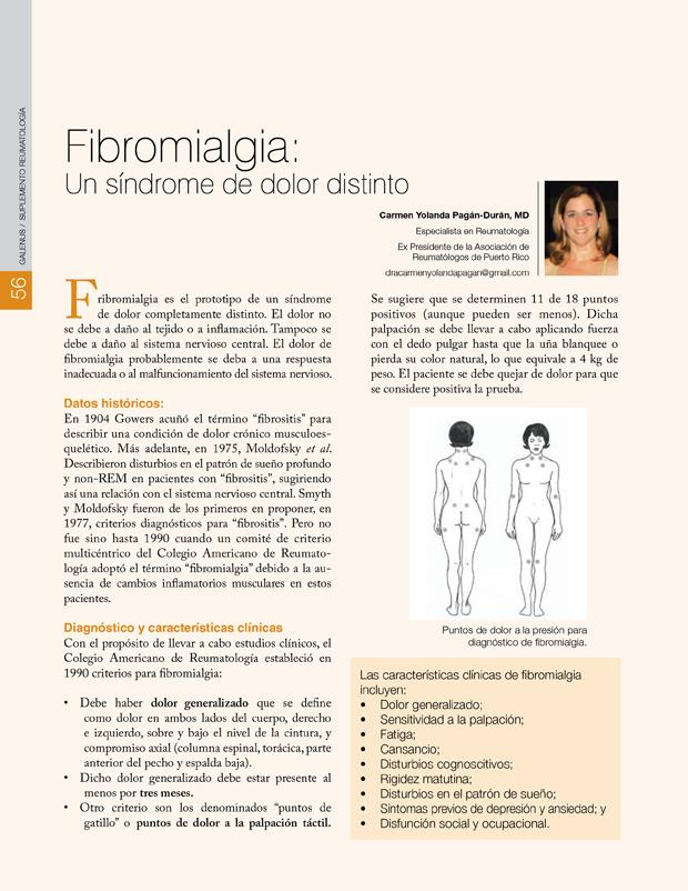 Fibromialgia: Un síndrome de dolor distinto