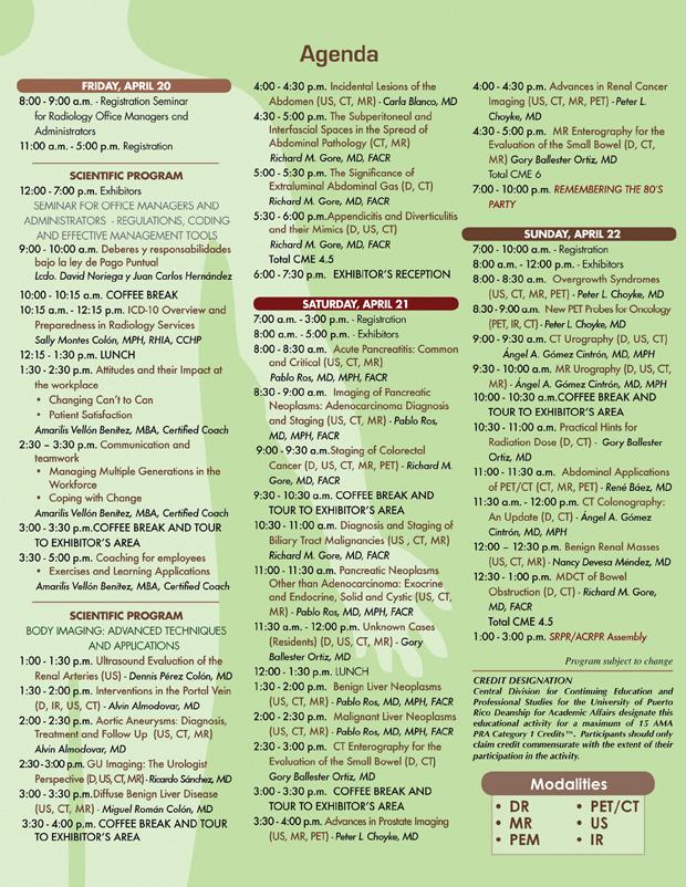Agenda Radiología