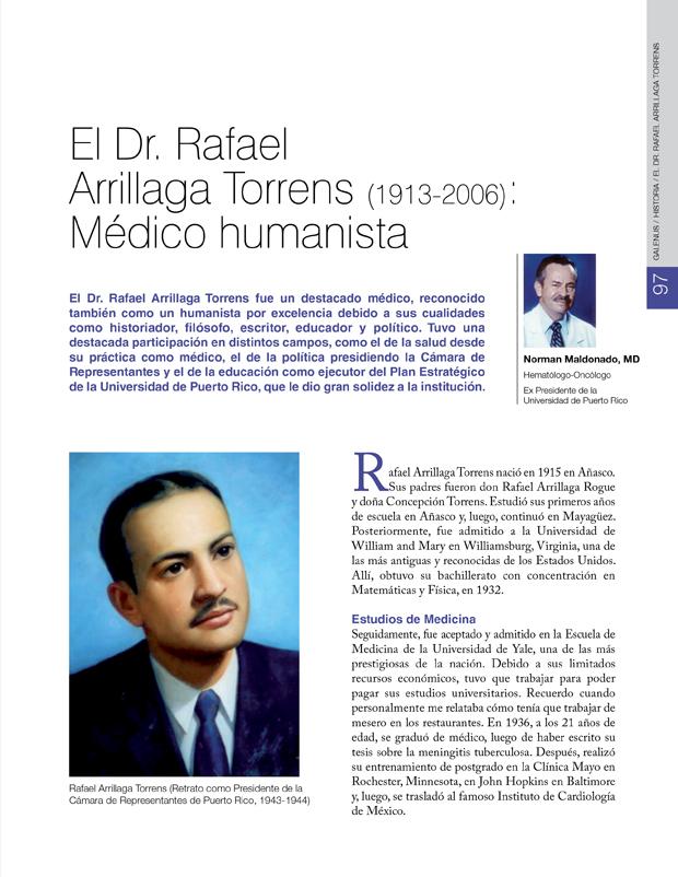 Historia / El Dr. Rafael Arrillaga Torrens (1913-2006): Médico humanista