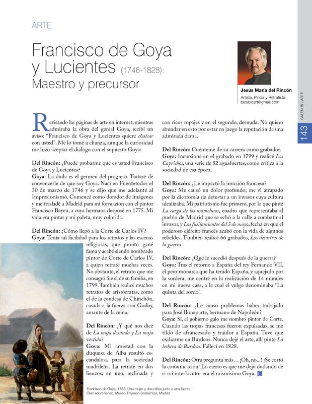 Francisco de Goya y Lucientes (1746-1828): Maestro y precursor