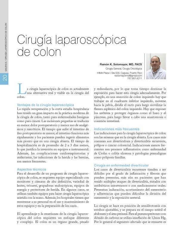Cirugía laparoscópica de colon