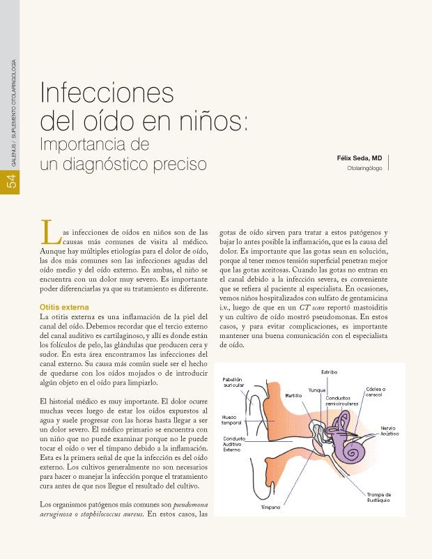 Infecciones del oído en niños