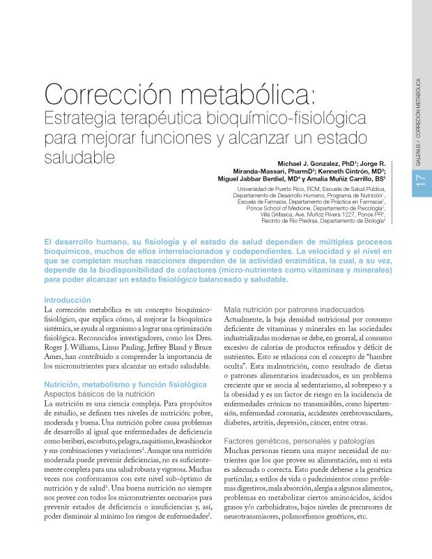 Corrección metabólica