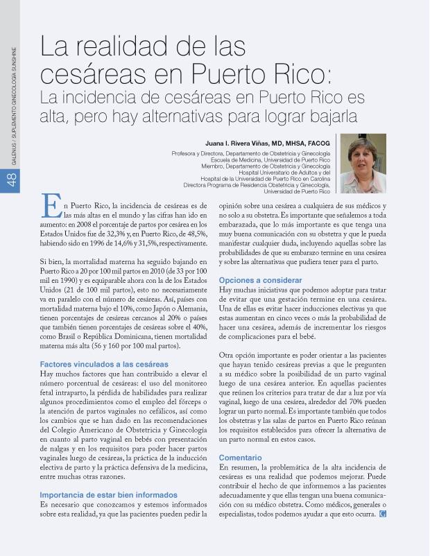 La realidad de las cesáreas en Puerto Rico