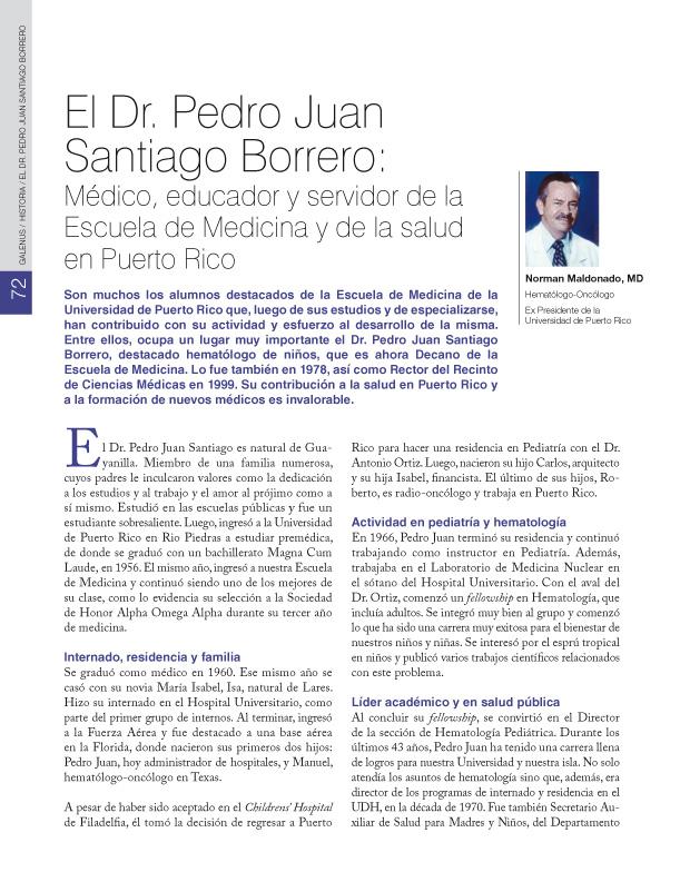 El Dr. Pedro Juan Santiago Borrero: