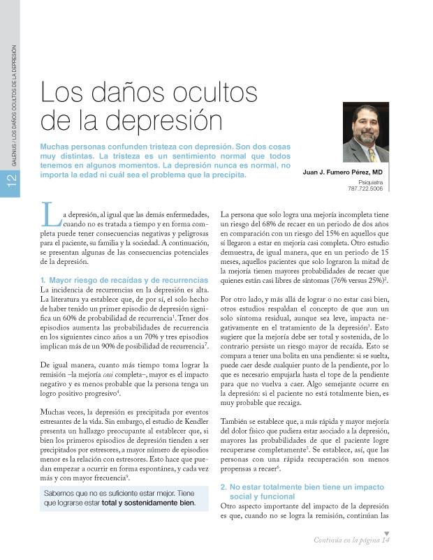 Los daños ocultos de la depresión