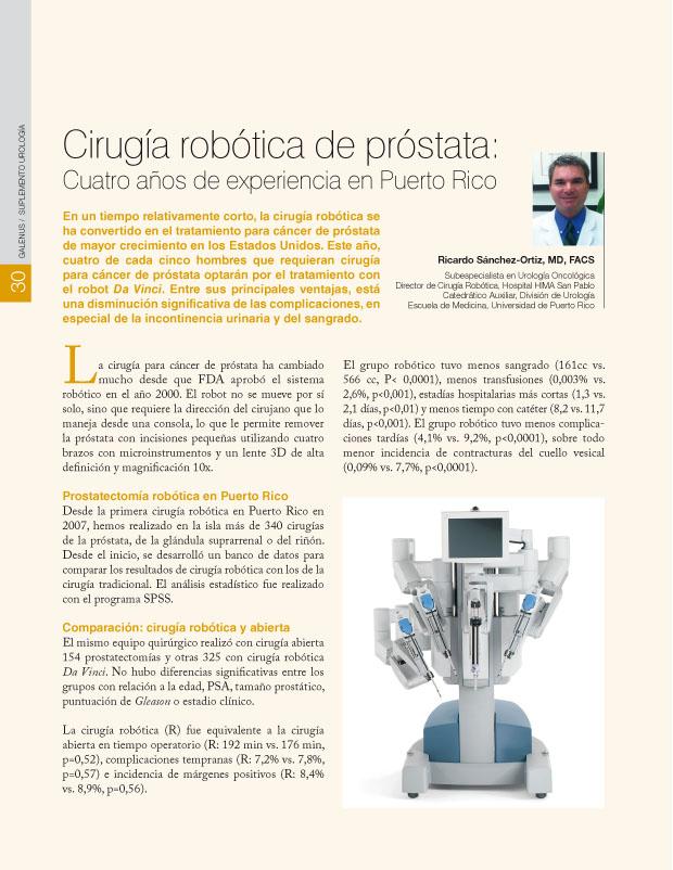 Cirugía robótica de próstata: