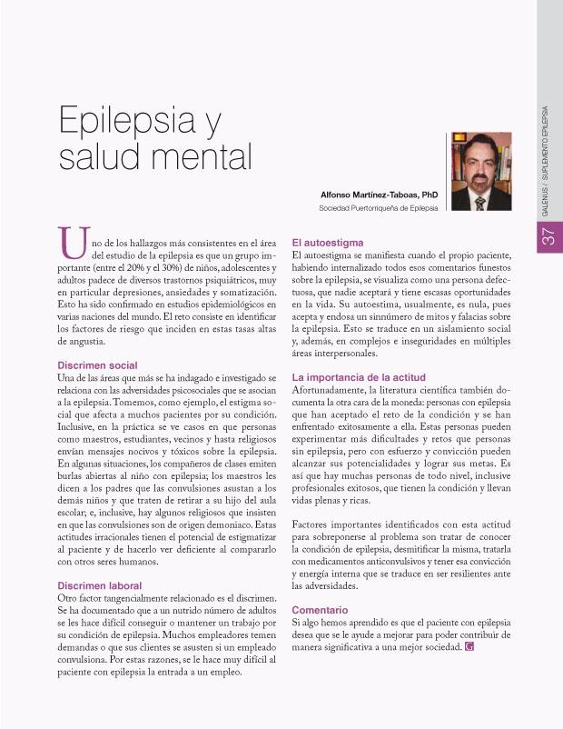 Epilepsia y salud mental