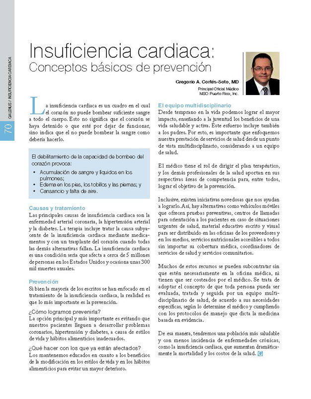 Insuficiencia cardiaca: Conceptos básicos de prevención