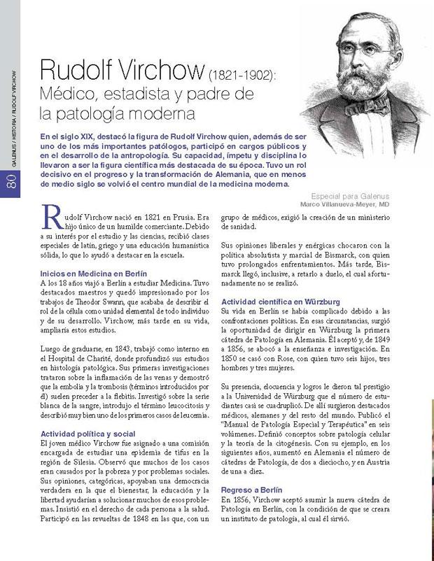 Rudolf Virchow (1821-1902): Médico, estadista y padre de la patología moderna