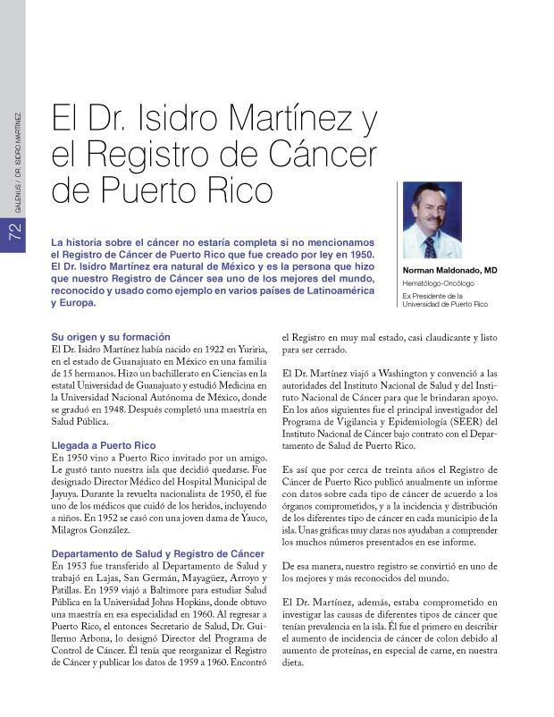 DR. ISIDRO MARTINEZ