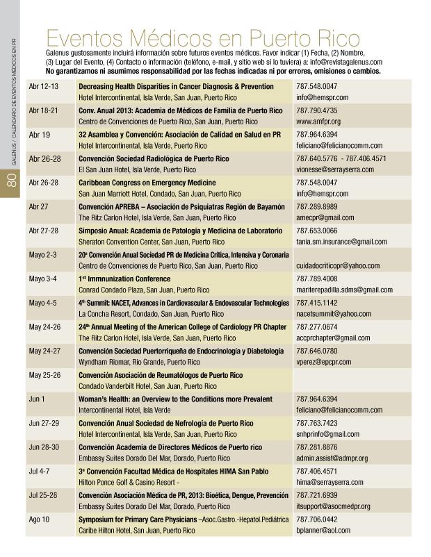 EVENTOS MEDICOS EN PUERTO RICO