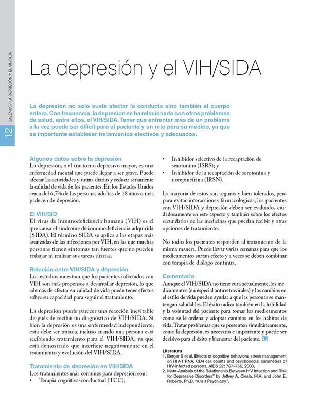 La depresión y el VIH/SIDA