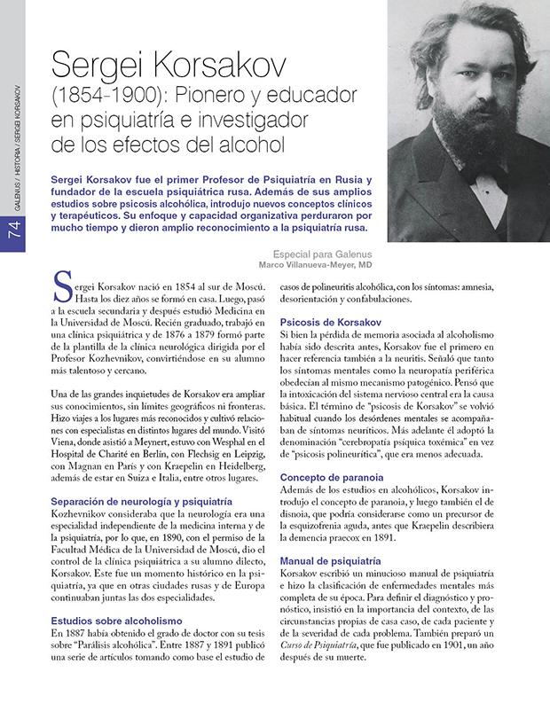 HISTORIA /Sergei Korsakov